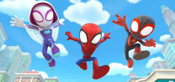 MARVEL'S SPIDEY AND HIS AMAZING FRIENDS featuring Spider-Man, Ghost Spider, Mile Morales