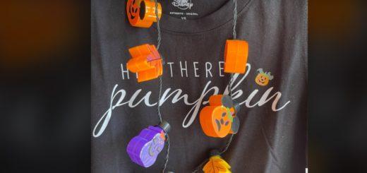 new light up pumpkin necklace
