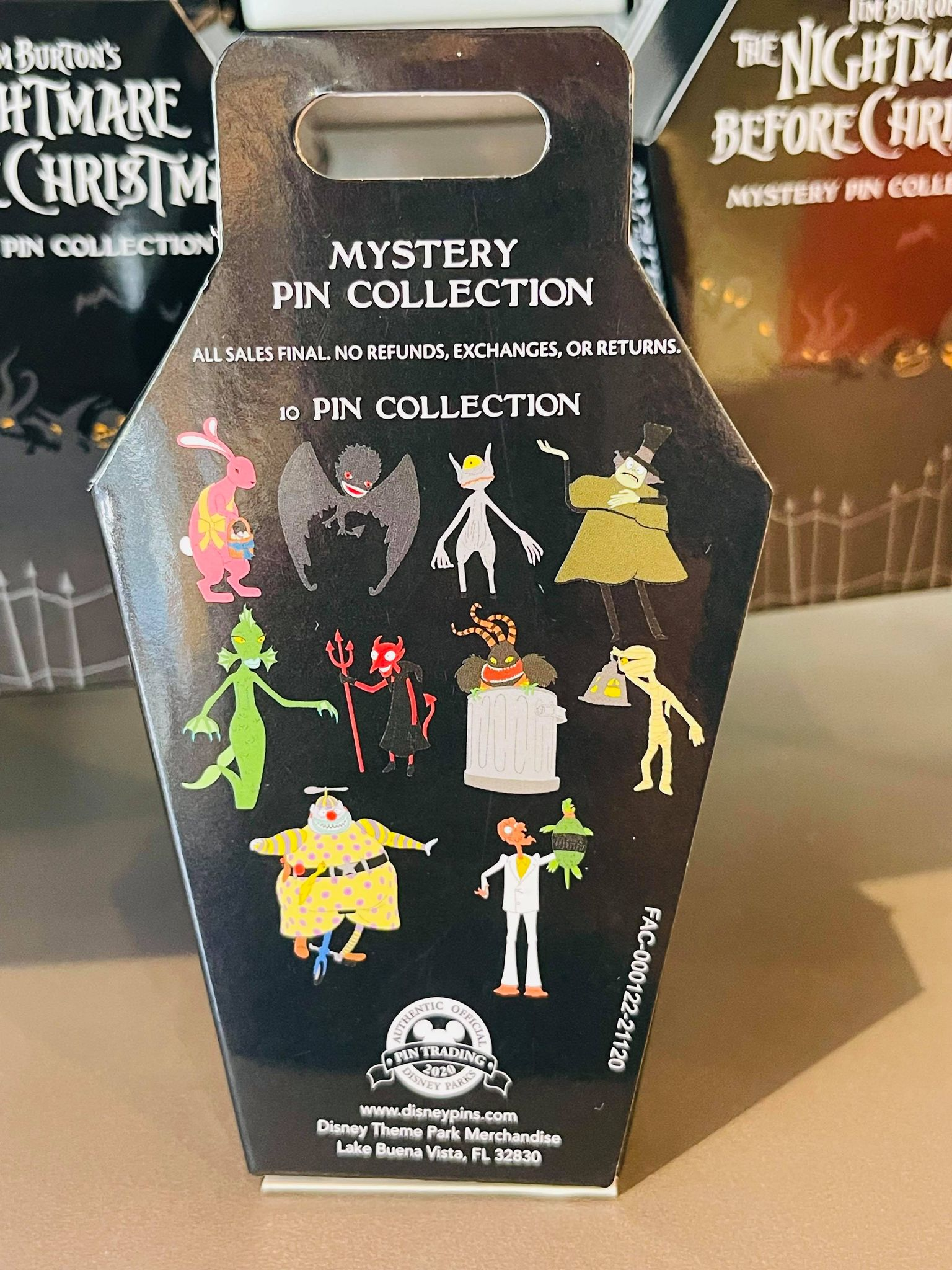 nightmare before christmas mystery pins