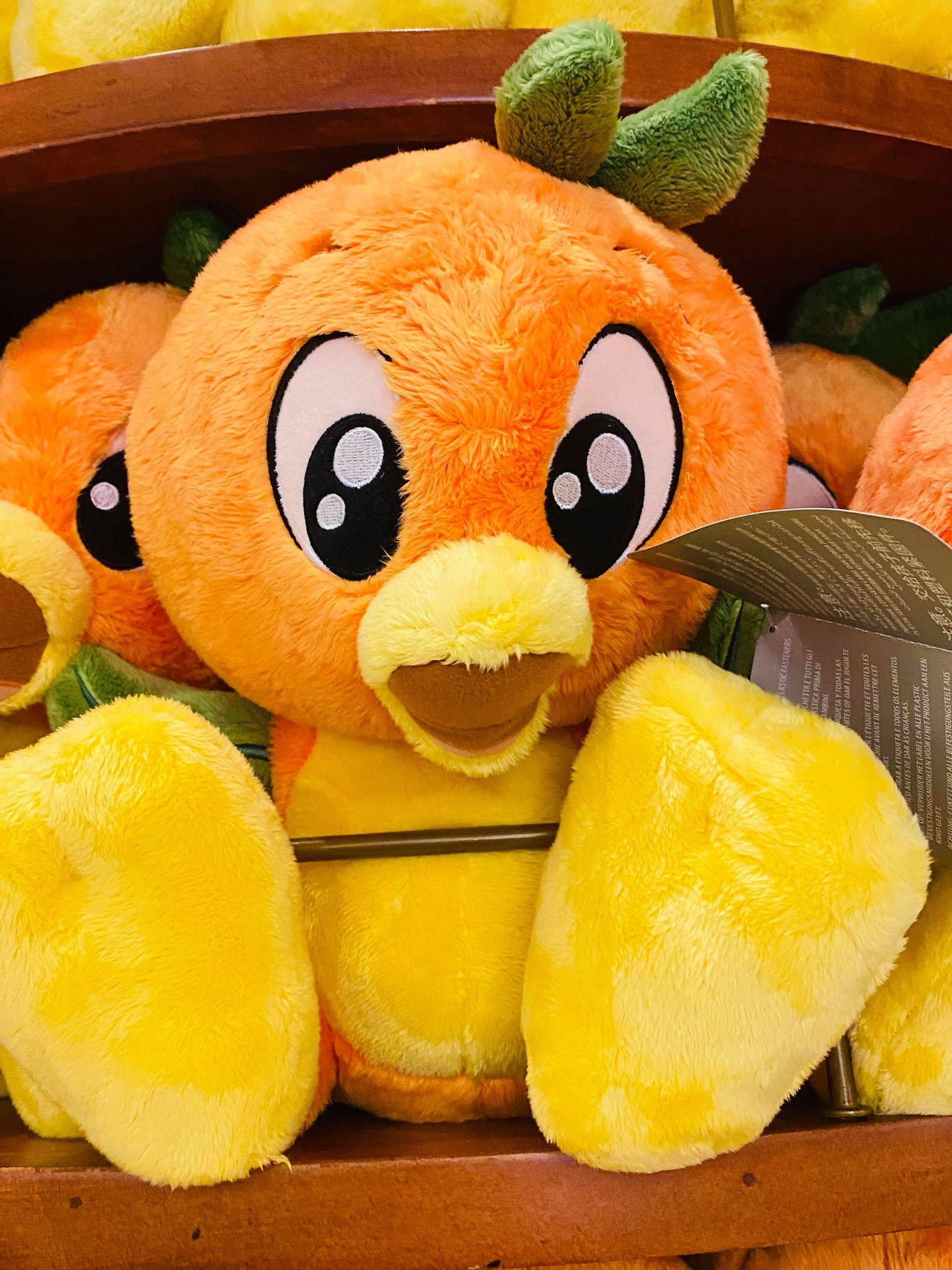 orange bird big feet plush