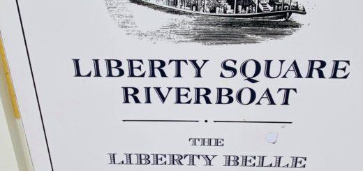 Liberty Square Riverboat closed for refurbishment sign