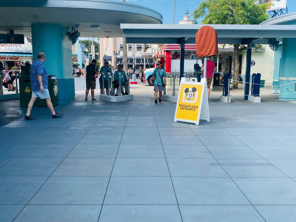 New annual pass signage in Hollywood Studios