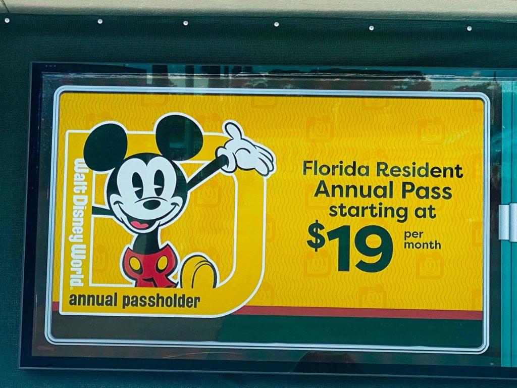 Annual Pass Digital Sign