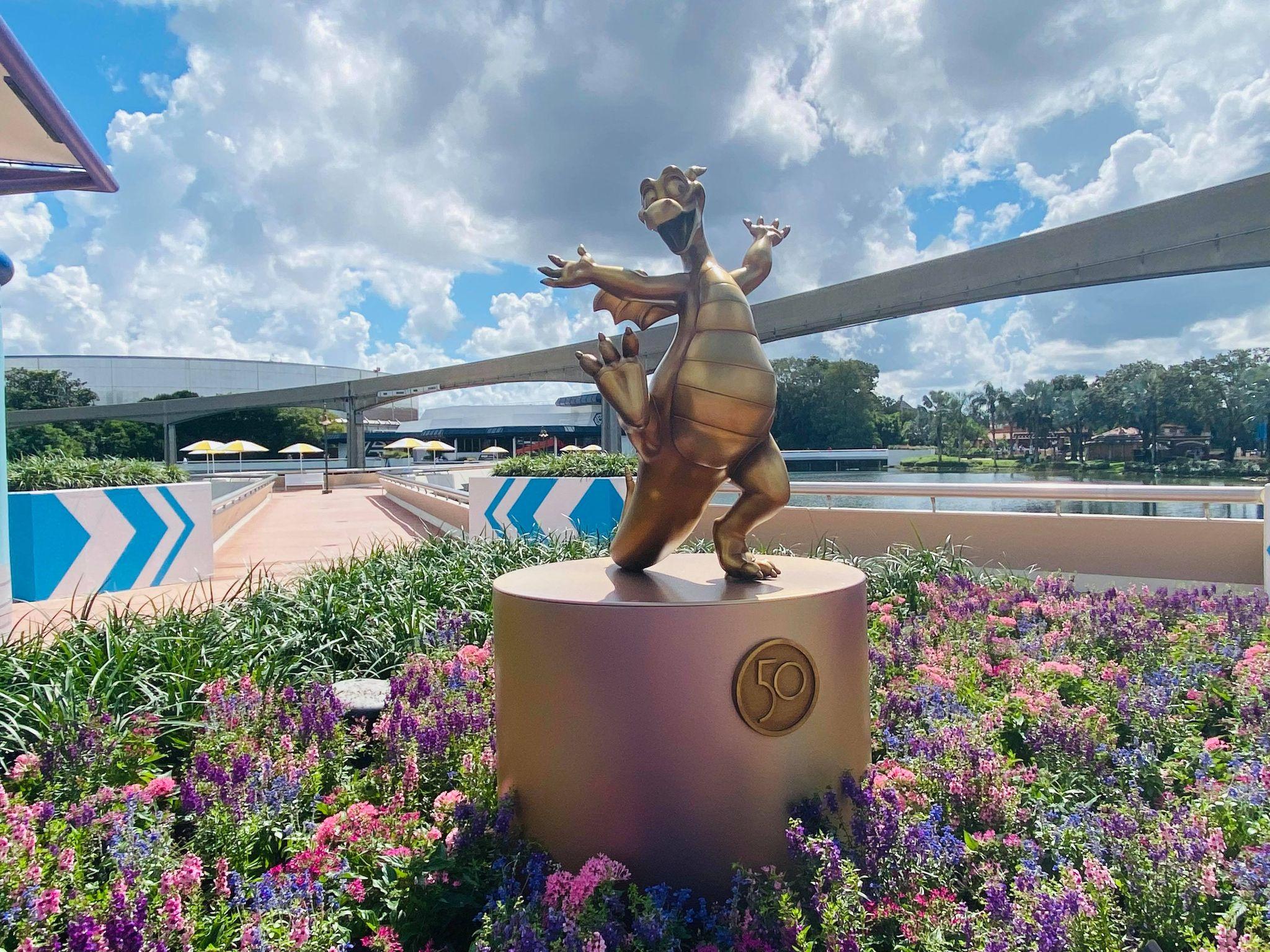 50th anniversary statues EPCOT