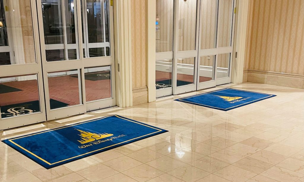 Grand Floridian 50th welcome mats