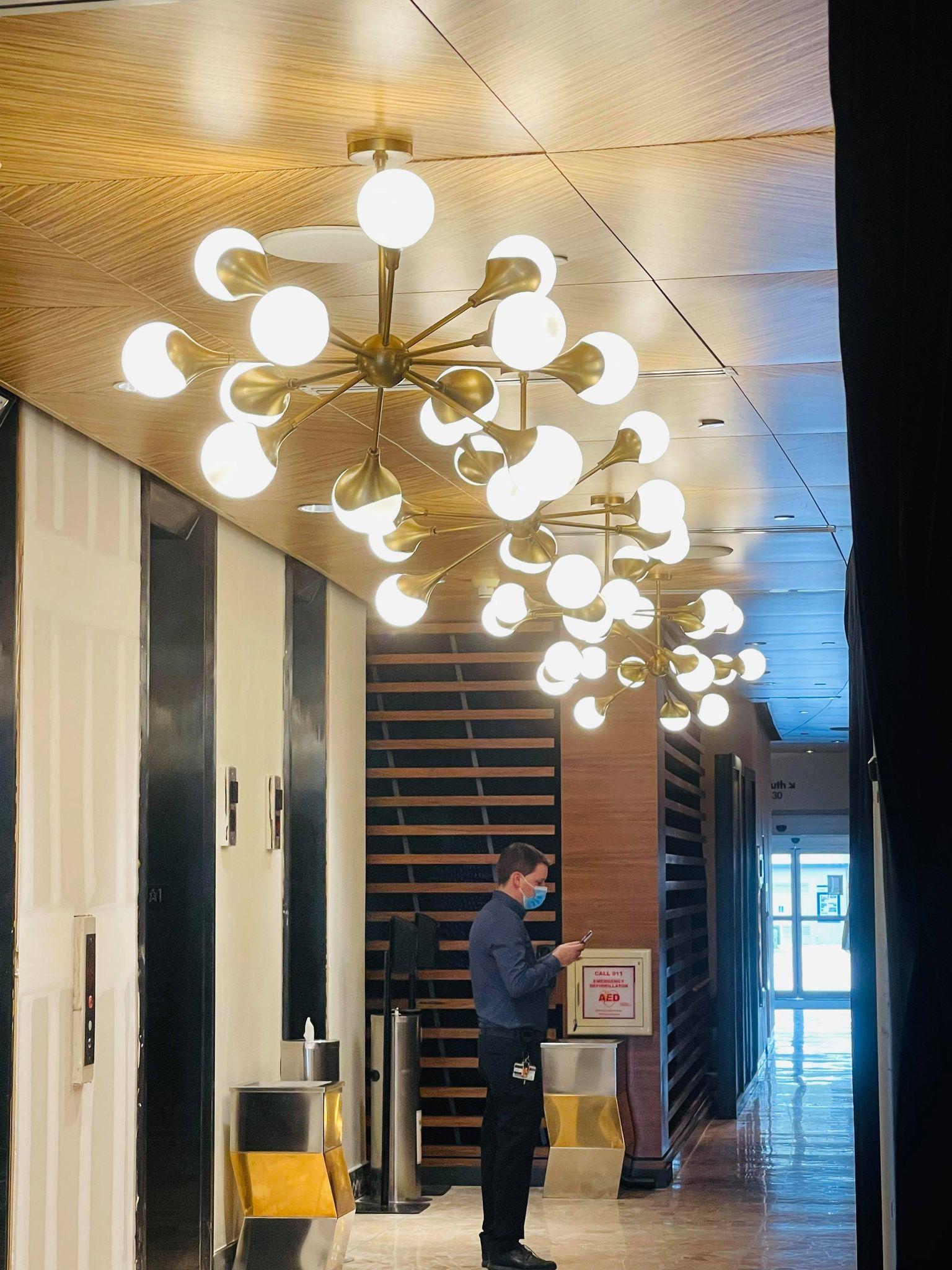 contemporary lobby lighting