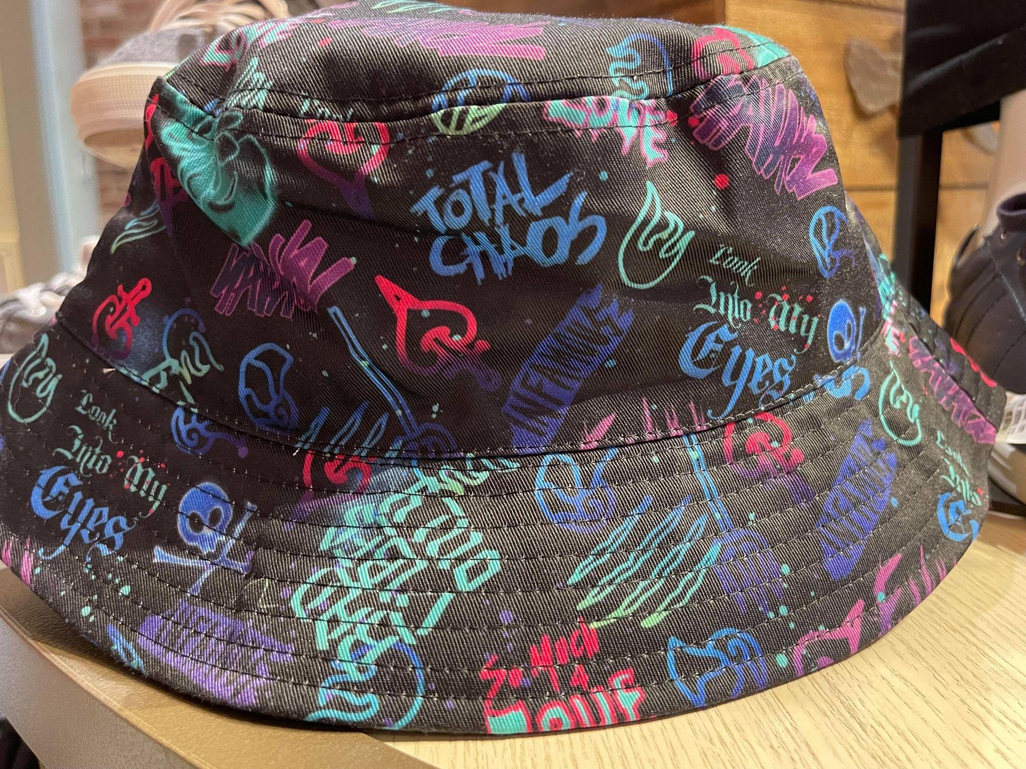 halloween villains graffiti bucket hat