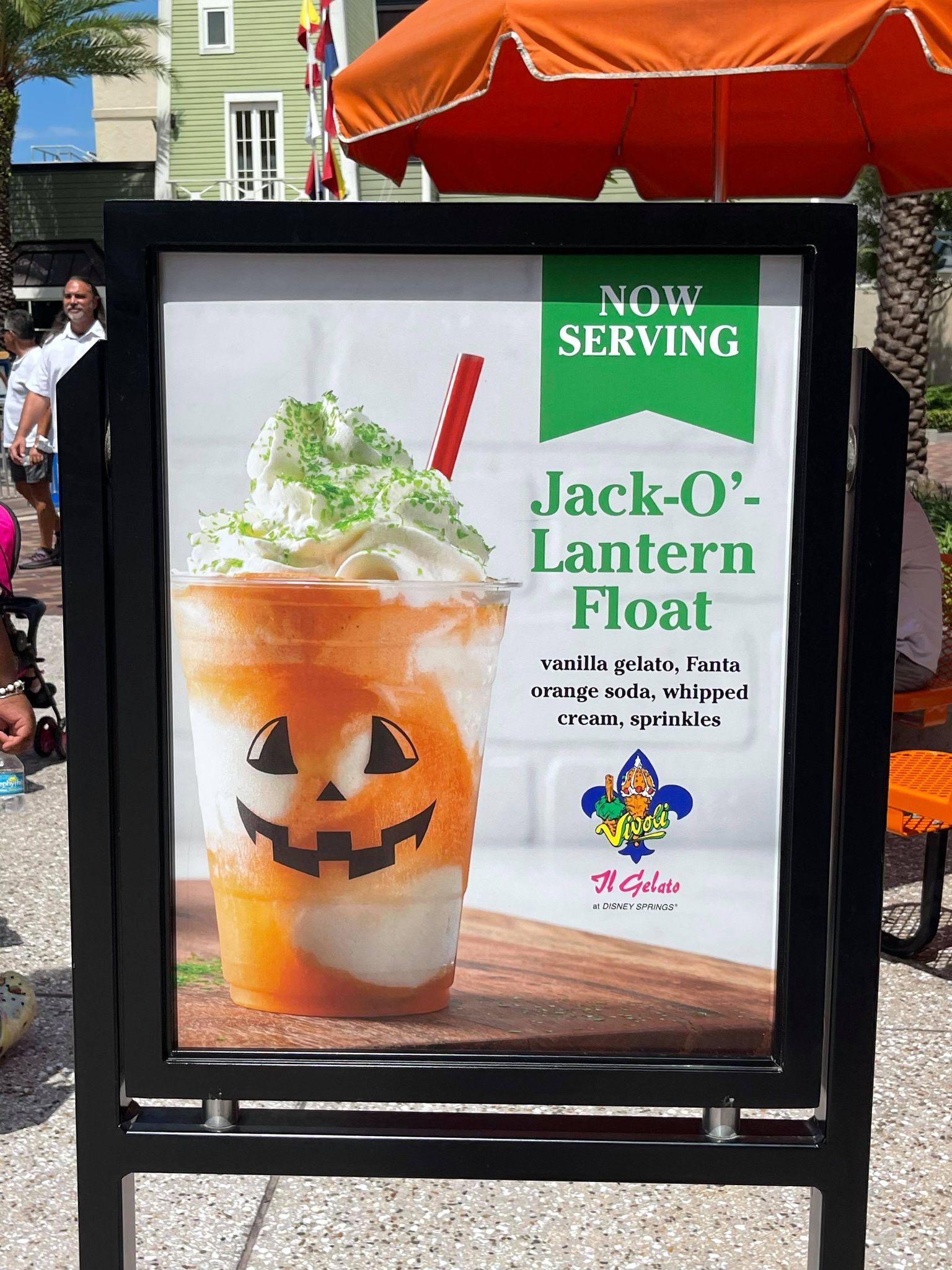 jack o lantern float vivoli il gelato