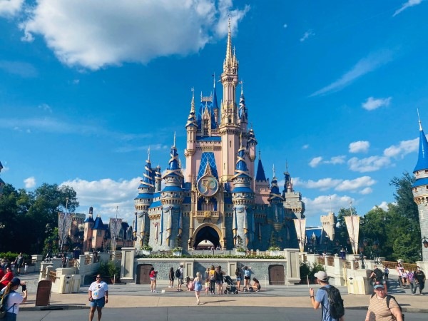 cinderella castle with stage